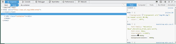 Screenshot of Firefox Developer Tools